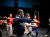 Dream Up: an encounter between the choreographer Abou Lagraa and young dancers from Sidi Moumen, Casablanca.